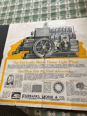 Fairbanks Morse home electric plant hit miss engine advertising