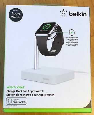 Belkin Valet Charge Dock and Stand with Charger for Apple Watch (F8J191BTWH)