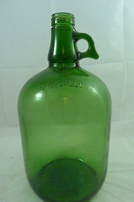 Vintage Mountain Dew Syrup Green Glass Gallon Jug Teardrop Handle Bottle