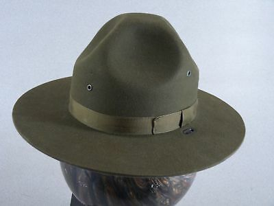 Stratton Self Forming Green Felt State Trooper Campaign Hat with Green Band