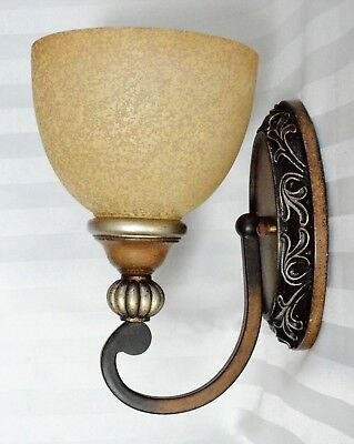 Vintage Bronze Art Deco Wall Sconce With Choice of 4 Globes
