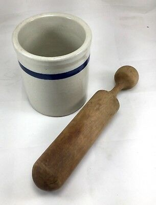 Antique Apothecary Mortar and Pestle Drug Pharmacy Medicine Stoneware