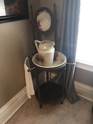 Antique Wash Stand And Pitcher/bowl