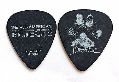 All American Rejects Guitar Pick Nick Wheeler 'Paw Print' Dexter 2012. AAR