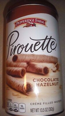 Collectible Pepperidge Farm Pirouette Creme Filled Wafers Cookie Tin Empty Deal