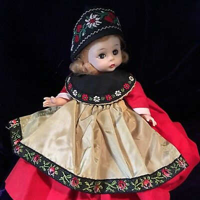 "Vintage Madame Alexander Swedish (Sweden) Girl Doll 8"" Tall w/ Bending Knees"
