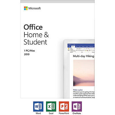 Microsoft Office Home and Student 2019 Windows/Mac 1 License PC Key 79G-05029