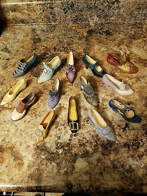 Lot of 14 Just the Right Shoe Miniature Collectibles