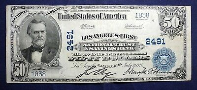 1902 $50 Los Angeles-First National Currency Bank Note