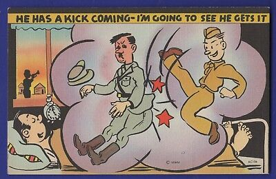 He Has a Kick Coming I'm Going to See He Hitler Gets It kick in the Ass Linen cd