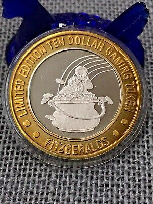Fitzgeralds POT OF GOLD ~ Limited Edition $10 .999 Fine Silver Gaming Token