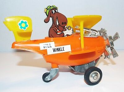 Rocky And Bullwinkle-Bullwinkle Plastic Wind-Up Airplane