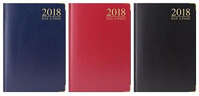2018 Diary Day A Page/week To View Pocket/slim/a6/a5/a4 Gold Corner Padded Cover
