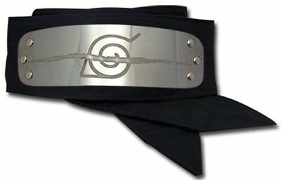 Naruto Leaf Crossed Out Hidden Village Ninja head protector armor band plate