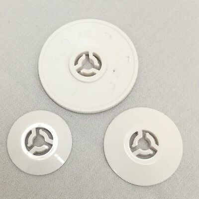 3 Sizes of Spool Holder Caps  (one each)  Brother etc