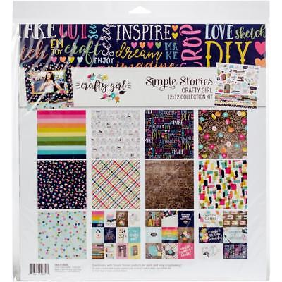 Simple Stories Collection Kit - CRAFTY GIRL - papers stickers