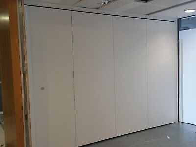 3.96 Metre Wide Acoustic Folding & Rotating 'huppe Form' Partition Wall
