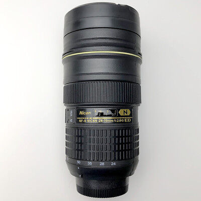 Camera Lens Mug/Cup AF-S 24-70mm Coffee Travel Mug Thermos Stainless Cup 14oz