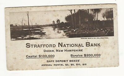 Early Antique Dover, Nh Blotter - Strafford National Bank. Unused.
