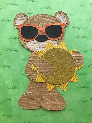 Fully assembled Bear with sun paper piecing / die cut