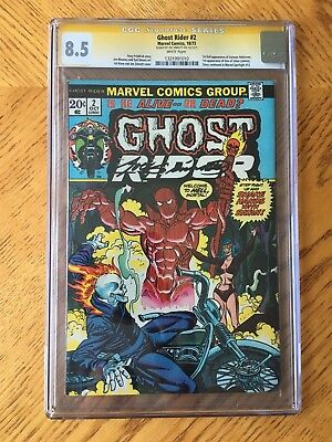 Ghost Rider #2 1st Appearance Son of Satan Signed Joe Sinnott CGC 8.5