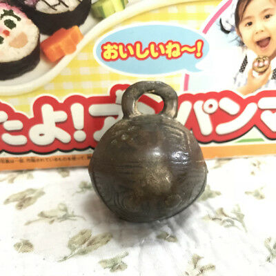 Vintage Antique Old Metal Solid Brass Cow Buffalo Bell Asia Rare