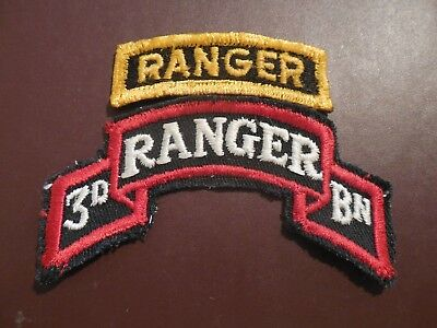 3rd Ranger Airborne Vintage Patch Tab 75th Parachute Infantry Uniform US Army