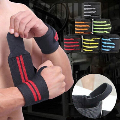 Fitness Padded Weight Lifting Training Gym Straps Hand Bar Wrist Wraps