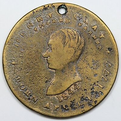 1840 Henry Clay Hard Times Token/Campaign Token, VF detail