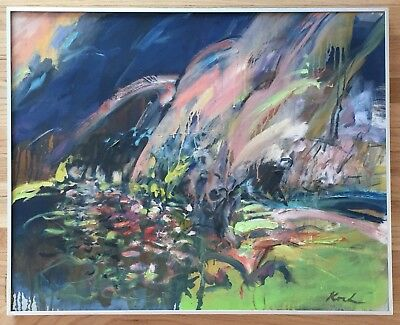 GERD KOCH Original Signed Vintage Abstract Expressionist Oil Painting LISTED