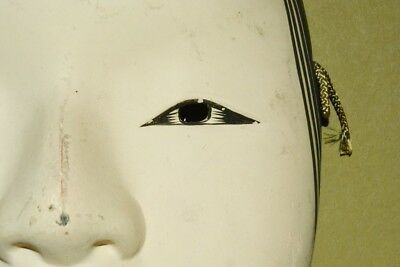 Japanese Art Mask Plaster Beauty Noh Kyoto Old Vintage Antique Japan Nippon c540