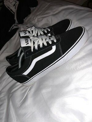 Vans Old Skool Pro (Black/White) Men's Skate Shoes