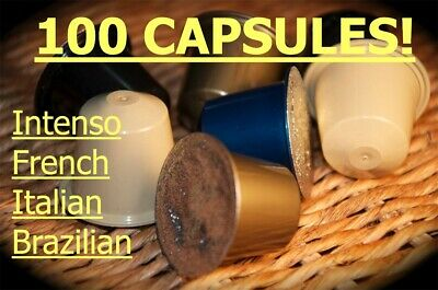100 Nespresso Coffee Capsules pods compatible