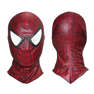 Adult Kids Super Heroes Spiderman Mask Cosplay Fancy Dress Costume Party Red US