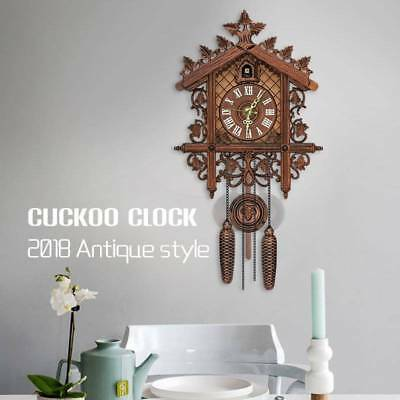 2018 Vintage Cuckoo Clock Forest Quartz Swing Wall Alarm Handmade Room Decor