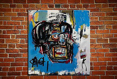 """Jean-Michel Basquiat """"Untitled,1982"""" oil painting on canvas huge wall 30x30inch"""