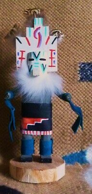 """Kachina Called """"white Cloud"""" Created And Signed By Navajo Artist Craig Begay"""
