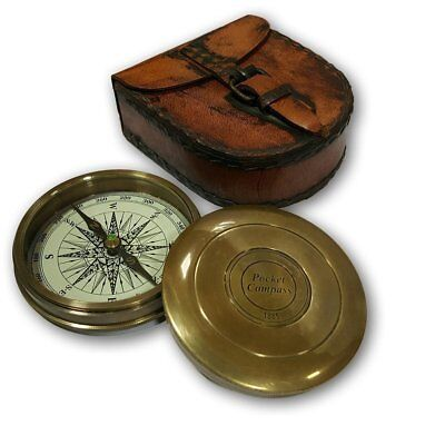 Nautical Decor Astrolabe Brass Robert Frost Vintage Poem Engraved Compass