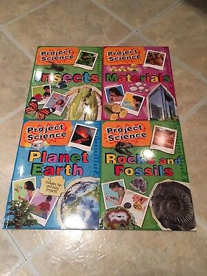 PROJECT SCIENCE Set 4 Books - Rocks & Fossils, Materials, Planet Earth, Insects