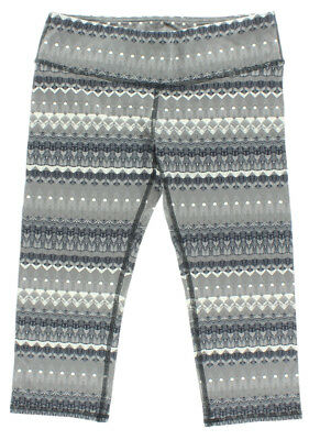 Alo Yoga Womens Airbrush Printed Capri Grey