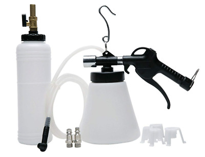 Pneumatic Brake Fluid Bleeder Tool with 4 Master Cylinder Adapters 90 - 120 PSI
