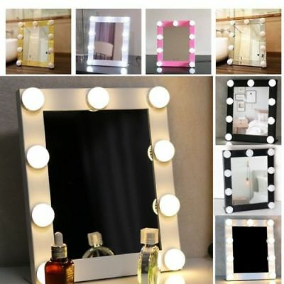 Hollywood Makeup Vanity Mirror with Lights Stage Large Beauty Dimmer 9 LED Bulb