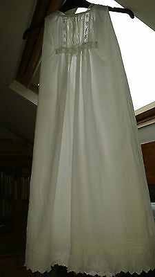 Vintage Christening Gown - White Embroidered Work