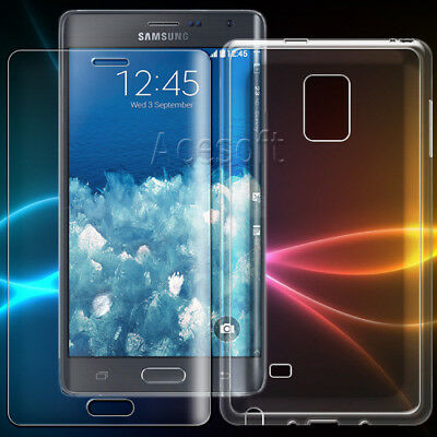 2in1 Screen Protector Flexible TPU Case for Samsung Galaxy Note Edge N915T Phone