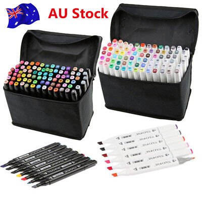 30/40/60/80 Colors Sets Oil marker Pen Dual Headed Artist Sketch Copic Animation