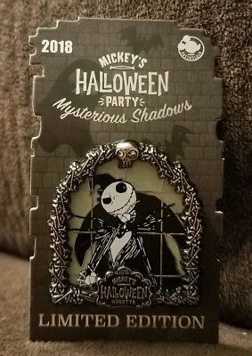 Mysterious Shadows 2018 Disney Pin Jack Skellington Mickey Halloween Party AP LE