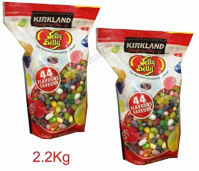 KIRKLAND Jelly Belly Original Gourmet Jelly Beans 44 Flavours 2.2kg (2 bags) NEW