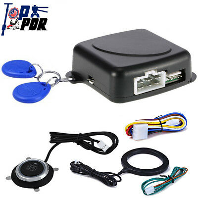 Car SUV Ignition Switch 12V RFID Engine Push Button Keyless Security Ignition