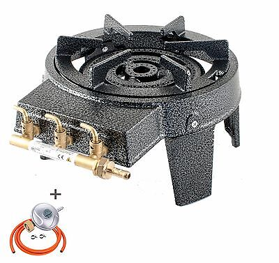 Triple Ring Burner Large Gas Boiling Ring Cast Iron Cooker Outdoor Stove GB-17