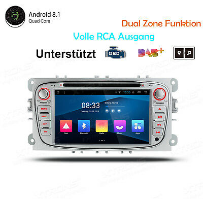 Android 8.1 Autoradio GPS Navi DVD in Dash Für Ford Mondeo Focus S-max Galaxy